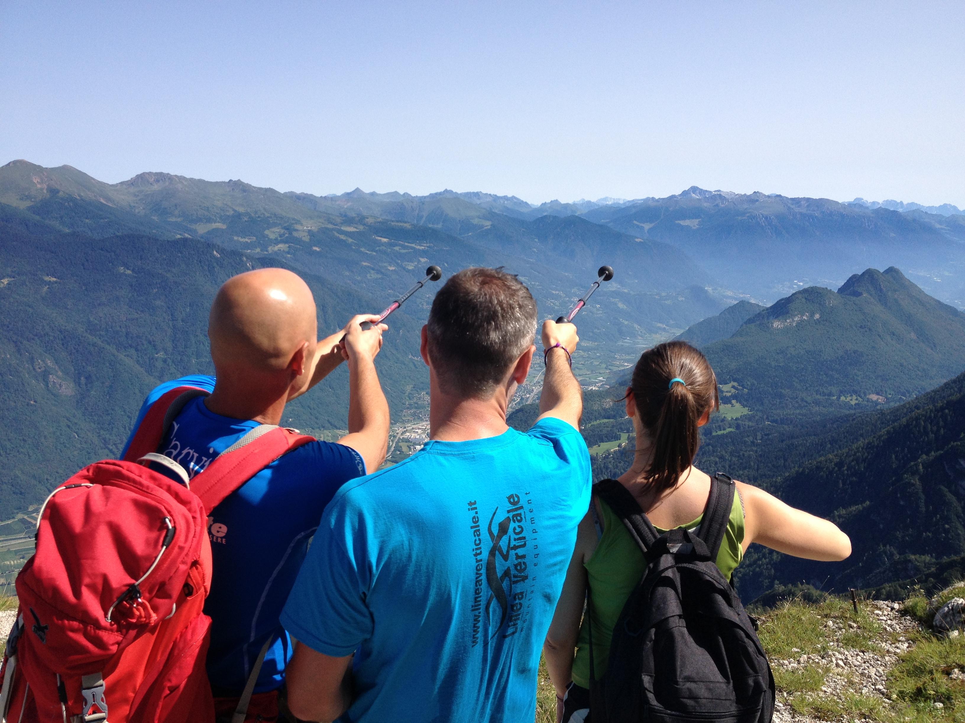 individuando le montagne dal Pizzo di Levico