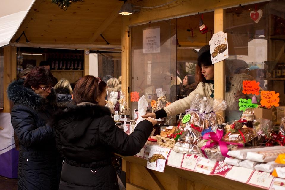 Een van de kerstmarkten in Valsugana
