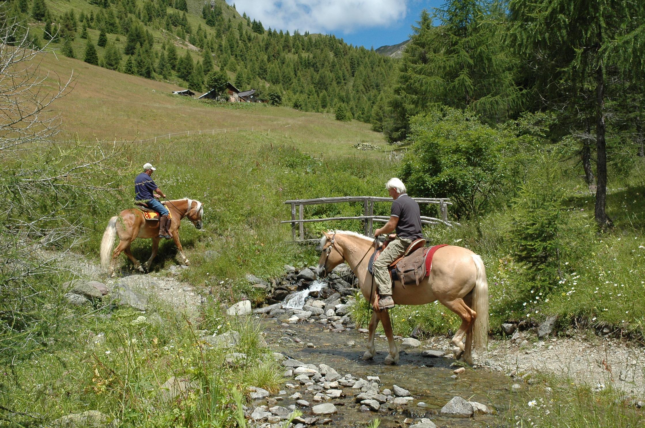 paardrijden in het mooie valsugana