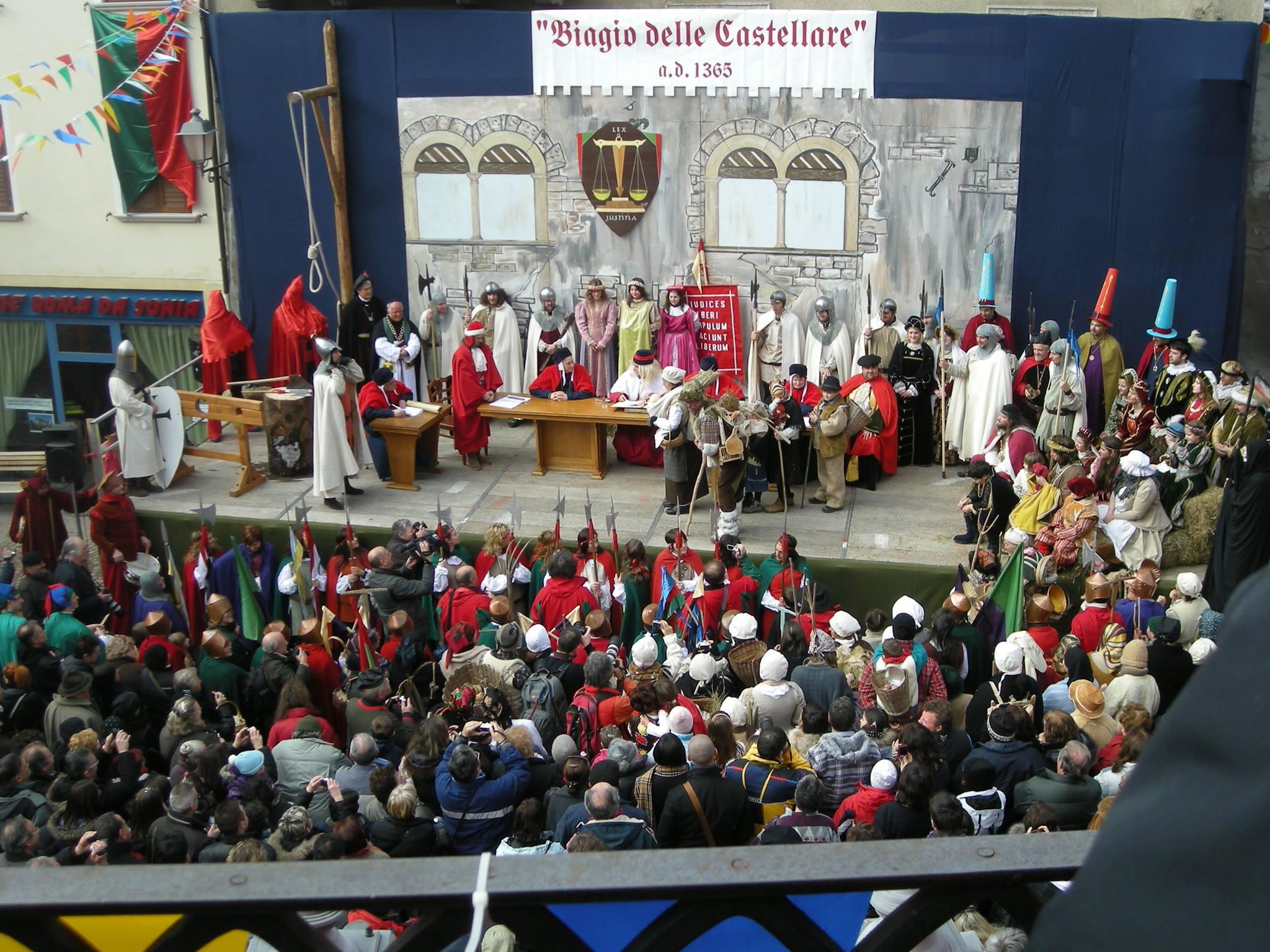 Biagio delle Castellare - Il processo